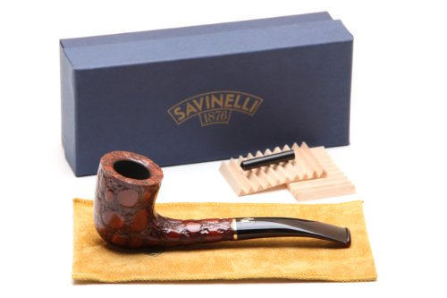 Savinelli Alligator Brown 413 Tobacco Pipe