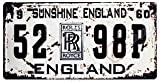 ナンバープレート レプリカ イギリス ロールスロイス Rolls-Royce