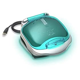 Electric Grill: George Foreman Champ Grilling Machine with Buildt in Bun Warmer ~ Color: Turquoise Blue
