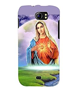 Fuson 3D Printed Lord Mother Merry Designer Back Case Cover for Micromax Canvas 2 A110 / A110Q - D536