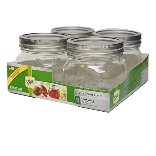 Loew-Cornell Ball Wide Mouth Canning Jar, 16 oz, 4 Per Package
