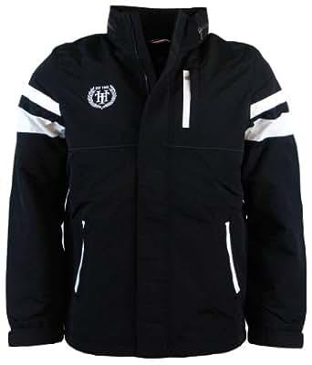 Tommy Hilfiger Mens Nylon Yacht Jacket Windbreaker - XXL - Black/White