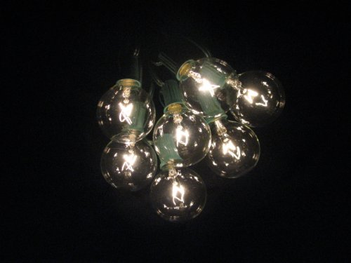 100 foot globe patio string lights set of 100 g50 clear. Black Bedroom Furniture Sets. Home Design Ideas