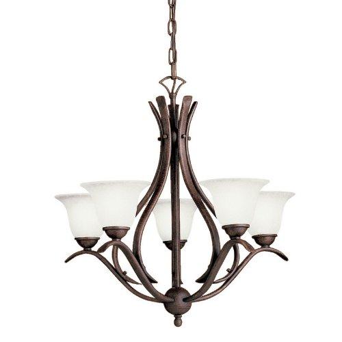 Luxury Kichler Lighting TZ Light Dover Energy Efficient Fluorescent Chandelier Tannery Bronze