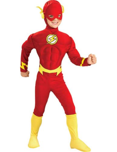 Flash Deluxe Muscle Lg Kids Boys Costume