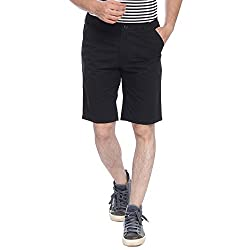 Parx Black Men's Shorts (XMHY00172-K882F032)