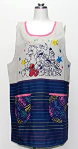 Sesame Street applique apron 23337251 (japan import)