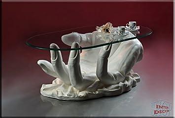 Neuheit Couchtisch Hand White Wohnzimmertisch Tisch Glastisch Luxusmöbel