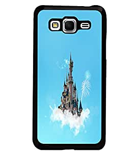 PrintDhaba Flying Castle D-1066 Back Case Cover for SAMSUNG GALAXY GRAND PRIME (Multi-Coloured)