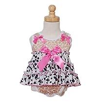 Infant Girls Animal Print Skirted Bodysuit Sleepwear 3M