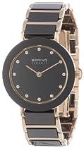 Bering Time 11429-746 Ladies Ceramic Black Rose Watch