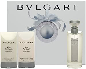 BVLGARI AU THE BLANC (WHITE TEA) TEA By Bvlgari For Women EAU DE COLOGNE SPRAY 2.5 OZ & BODY LOTION 2.5 OZ & SHAMPOO AND SHOWER GEL 2.5 OZ