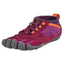 Vibram Women\'s Trek Ascent LR Light Hiking Shoe, Pink/Grey/Orange, 42 EU/9.5-10 M US