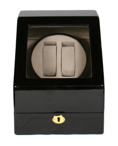 Double Automatic Wood Watch Winder 3 storages