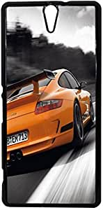 FCS Printed 2D Designer Hard Back Case For Sony Xperia C5 Ultra With Universal Mobile Stand