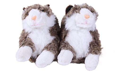 f0247e2dd890 Happy Feet - Gray   White Cat - Animal Slippers