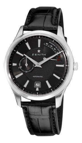 Zenith Men's 03.2120.685/22.C493 Elite Captain Power Reserve Black Dial Watch