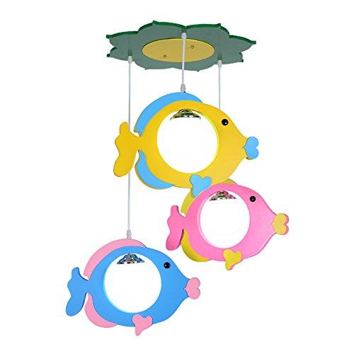 Engel Stall illuminazione led E27 luci plafoniere lampadario pendant light lamp Sollevare il piccolo pesce ragazzi e ragazze bambini acquario100*40cm