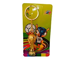 Buy Fifa 2014 Brazil World Cup Soccer Mini Trophy Keychain.Gold Plated by Castaway