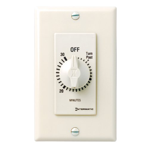 Intermatic Fd30Mac 30-Minute Spring Loaded Wall Timer, Almond