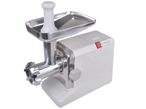 Electric 2.6 Hp 2000 Watt Industrial Meat Grinder Butcher Shop 3 Cutting Blades (White)