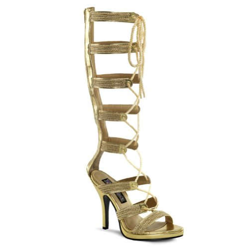 1cb1624e61a See 4 1 2 Roman Egyptian Costume Boots Laced Sandals Gold Open Front Shoes  Size