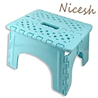 Nicesh Super Quality Folding Step Stool, Great for Adults & Kids (blue)