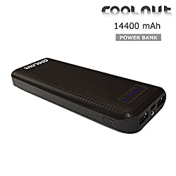 COOLNUT® Power Banks 14400mAh Dual USB Port Portable Backup, USB Supported Devices for All Smartphone (Black)