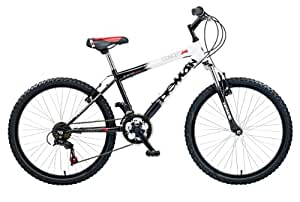 "Concept Demon Boys Childrens Bike Black White 13"" Steel Frame 24"" Wheel 18 Speed"