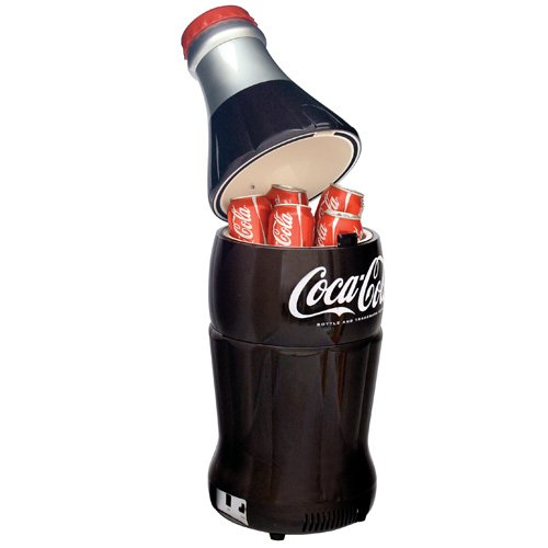 Koolatron BC10-G Coca-Cola 15-Can-Capacity Bottle-Shaped