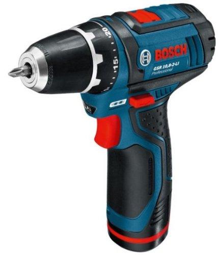 Bosch Professional GSR10.8-2-LI 10.8V Cordless Li-Ion Drill Driver with Keyless Chuck in L-Boxx with 2 x Batteries