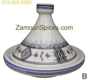Tagine Serving Moorish Blue Med 25cm