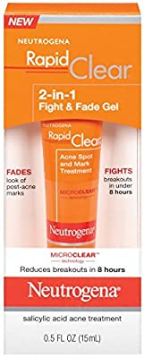 Neutrogena Rapid Clear 2-in-1 Fight and Fade Gel, 0.5 Fluid Ounce