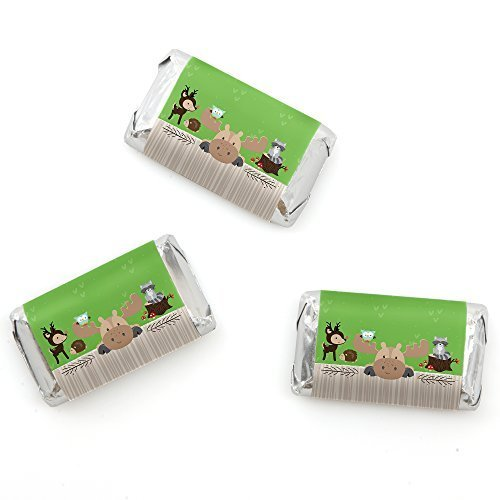 Woodland Creatures - Mini Candy Bar Wrappers Party Favors - 20 Count - 1