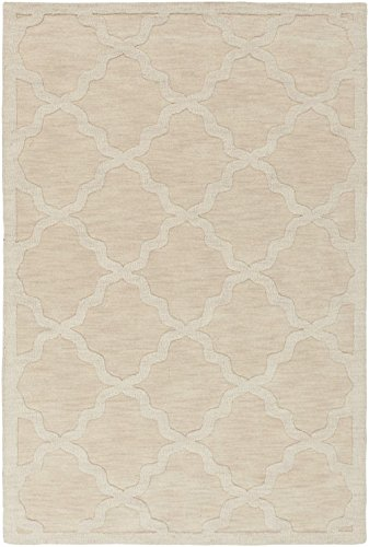 Artistic Weavers Solid/Striped Rectangle Area Rug 8'x10' Beige Central Park Abbey Collection (Central Park Rug compare prices)