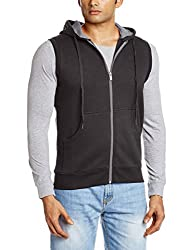 Proline Men's Cotton Sweatshirt (8907007203637_PC09912J_Large_Charcoal Marl)