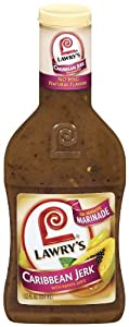 Lawry's 30-Minute Marinade, Caribbean Jerk with Papaya Juice, 12-Ounce Plastic Bottles (Pack of 6)