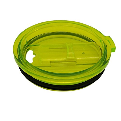 Mikey Store, New Spill and Splash Resistant Lid with Slider Closure for 30 oz. Tumblers Fits Perfectly (Green) (Slider Pan compare prices)