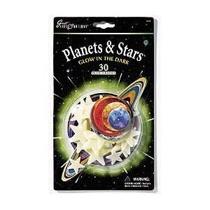 Great Explorations Glow In The Dark Planets & Stars, quantity 30 - 1