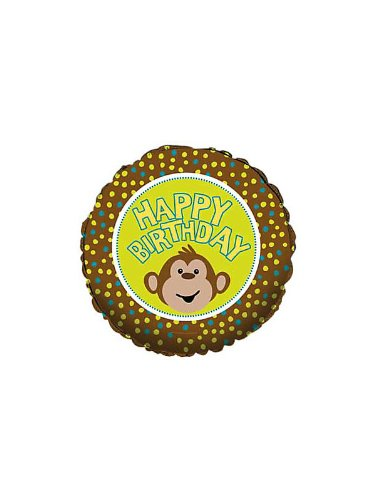 Happy Birthday Monkey Balloon (each) - 1