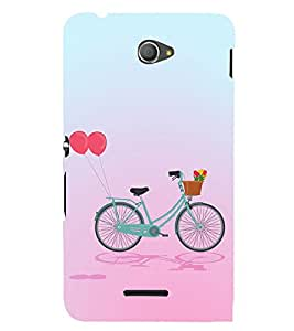Clipart Bicycle Design 3D Hard Polycarbonate Designer Back Case Cover for Sony Xperia E4 Dual :: Sony Xperia E4
