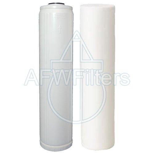 "Big Blue Housing//Filter Water Filter KDF85//GAC FILTER IRON//H SULFIDE 20/""x4.5/"""