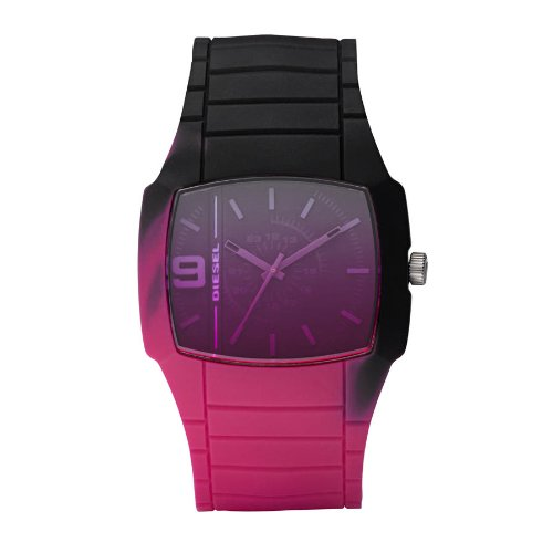 Diesel Unisex Pink/Black Uni Body Silicone Watch Dz1425