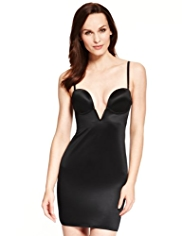 Firm Tummy Control Deep V-Neck Body Solutions A-DD Full Slip