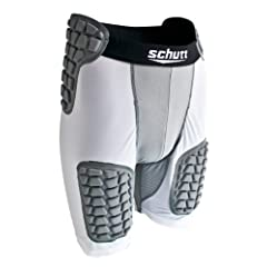 Buy Schutt Protech All in One Football Girdle, White Grey, Medium by Schutt