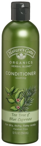 Nature's Gate Organics Conditioner, Tea Tree Oil & Blue Cypress, 12-Ounce Bottles (Pack of 3)