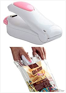 Mazu Heat Sealers - Food Saver for Mylar Bags and Creates Airtight Containers - Cabinet Accessory (Pink)