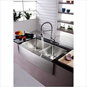 "Kitchen Combo Farmhouse 36"" Kitchen Sink with 20"" Faucet and Soap Dispenser"