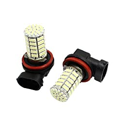 See Water & Wood 2pcs H11 1206 SMD 127 White LED Fog Light for Auto Car with Car Cleaning Cloth Details