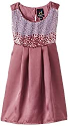 Herberto Girl's Party and Evening Dress (HRBT-DRESS085-3_Cherry Red_7-8 years)